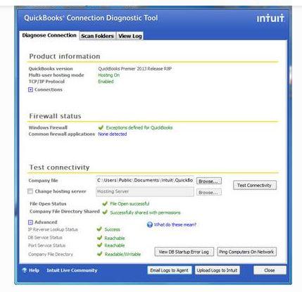 QB Connection Diagnostic Tool