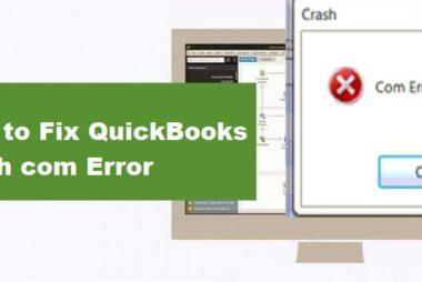 QuickBooks Crash Com Error