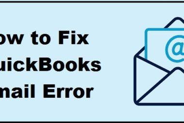 QuickBooks Email Error