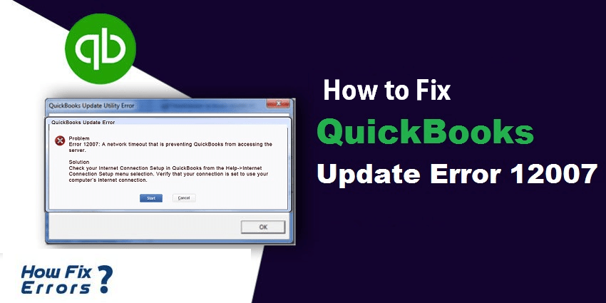 QuickBooks Error 12007