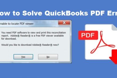 QuickBooks PDF Error