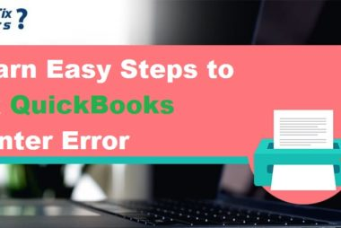QuickBooks Printer Error