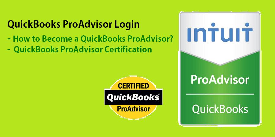 QuickBooks ProAdvisor Login