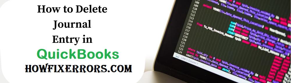 Delete Journal Entry in QuickBooks