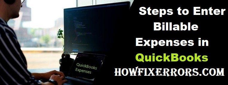 Enter Billable Expenses in QuickBooks
