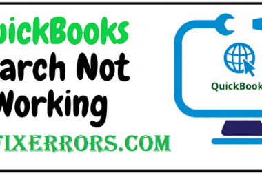 QuickBooks search not working.
