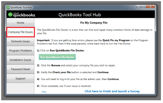 Company File Problems