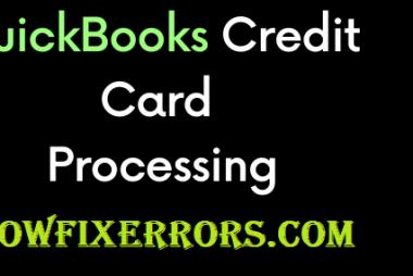 QuickBooks Credit Card Processing.