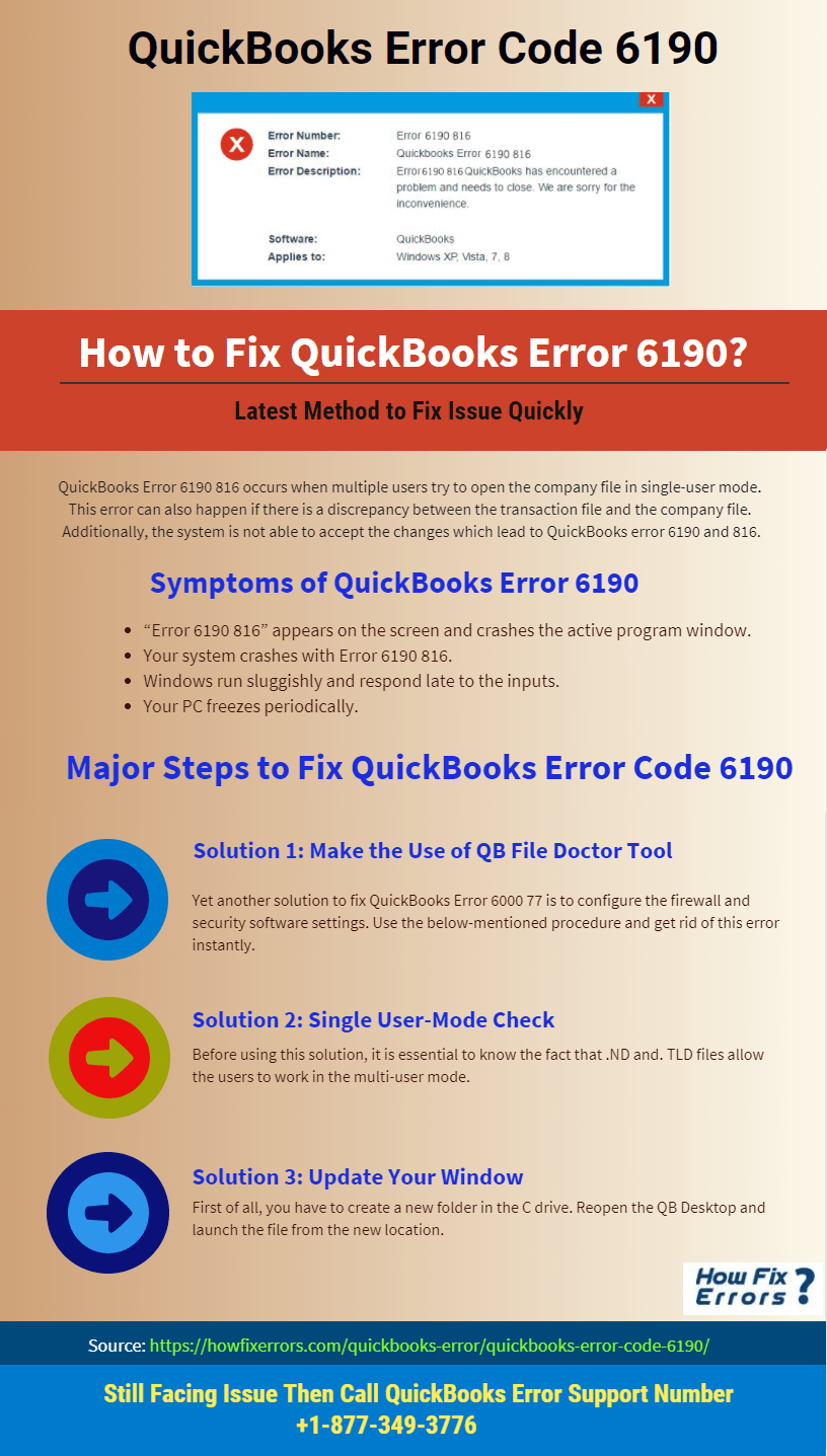 QuickBooks Error Code 6190