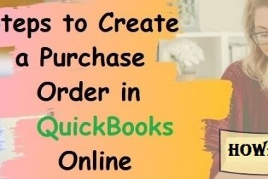 Create a Purchase Order In QuickBooks Online.