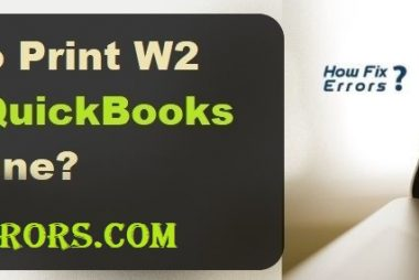 Print W2 in QuickBooks.