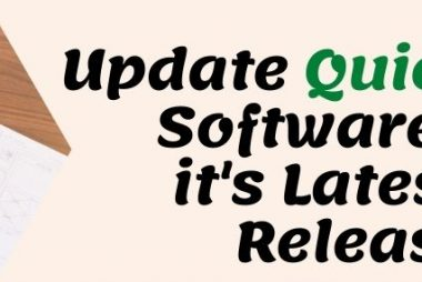 Update QuickBooks Software To Its Latest Release.