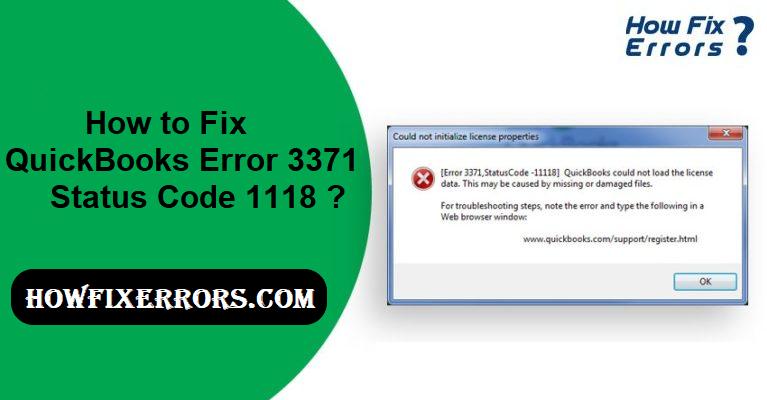 QuickBooks Error 3371 Status Code 1118.