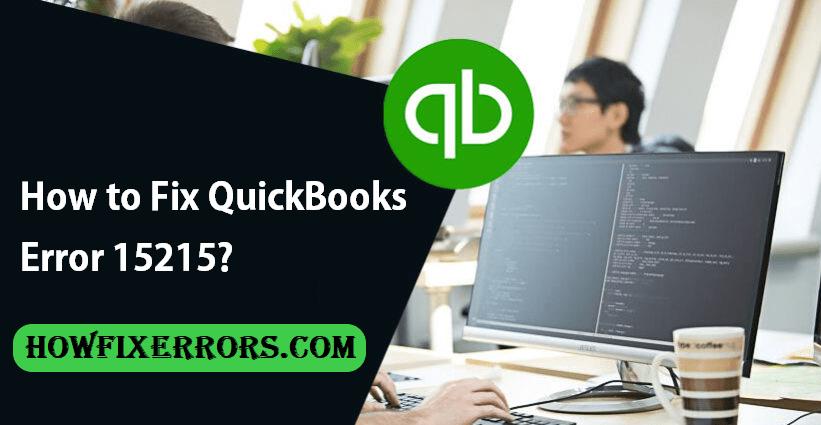 QuickBooks Error Code.15215